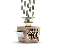 Money maker. Render of a money maker machine Royalty Free Stock Photos