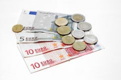 Money makes the world go around, Euro Royalty Free Stock Photography