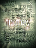 Money making abstract background. With text Royalty Free Stock Photos