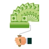 Money making banknote Stock Photos