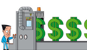Money making machine Royalty Free Stock Images