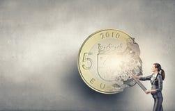 Money making mechanism Stock Image