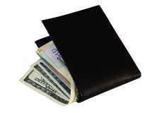 Money and male wallet Royalty Free Stock Images