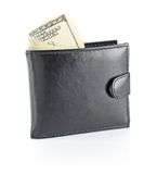 Money in male wallet Stock Photo