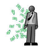 Money man Royalty Free Stock Photo