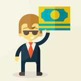 Money and man vector illustration Stock Image