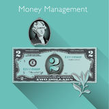 Money Management background. With Space for Type Stock Photo