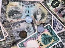 Money Manchukuo-th 1930-40-ies. Stock Images
