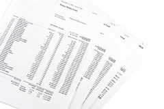 Money market account statements Stock Images