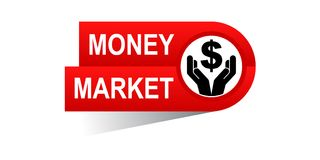 Money market banner. Icon on isolated white background - vector illustration Royalty Free Stock Photography