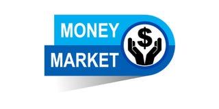 Money market banner. Icon on isolated white background - vector illustration Royalty Free Stock Image