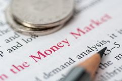 Money market Royalty Free Stock Photos