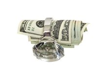 Money and marriage Royalty Free Stock Photography