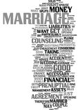Money And Marriage Text Background  Word Cloud Concept. MONEY AND MARRIAGE Text Background Word Cloud Concept Stock Photo
