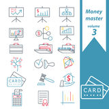 Money master 3. This pack includes 18 business marks designed in a simple way so it can be use for multiple proposes like logo ,marks ,symbols or icons Royalty Free Stock Images