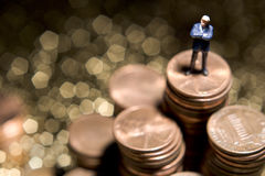Money matters. Business figure and money royalty free stock photo