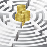 Money in the maze Royalty Free Stock Photo