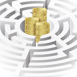 Money in the maze Royalty Free Stock Image