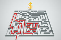 Money maze. Stock Image