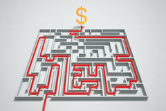 Money maze. Royalty Free Stock Photos