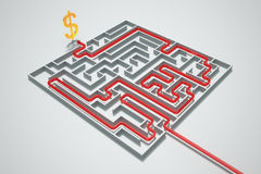 Money maze. Royalty Free Stock Photography