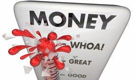 Money Measure Wealth Income Earning Revenue. 3d Illustration Stock Images
