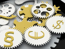 Money mechanism Royalty Free Stock Photo