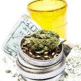 Money and Medical Marijuana Stock Photos