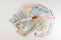 Money and medicines Royalty Free Stock Photography