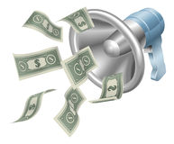 Money megaphone Stock Image