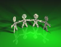Money Men Green Royalty Free Stock Images