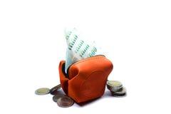 Isolated white background.money mini pocket Royalty Free Stock Image