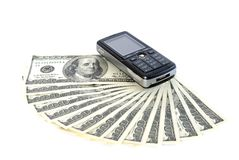 Money and mobil Stock Photography