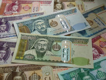 Money of modern Mongolia Stock Photos