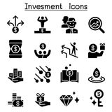 Money & Investment icon set Royalty Free Stock Photo
