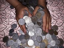 Money. Savings of kids Stock Photo