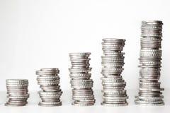 Money, Money Tower, Coins, Euro Stock Photos