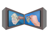 Money monitors Stock Photo