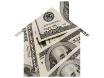 Money and mortgage Royalty Free Stock Images