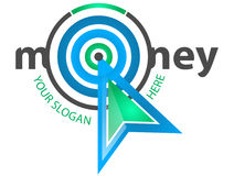 Money Mouse Logo. Money Target Mouse Logo with white background Royalty Free Stock Photos
