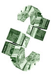 Money movement concept. Money movement -financial concept of successful investment Stock Photo