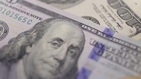 Money movement macro stock video footage