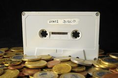 Money and Music Concept Royalty Free Stock Photography