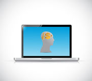 Money on my mind on a laptop concept. illustration Royalty Free Stock Photography