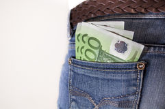 Money in my pocket Royalty Free Stock Image