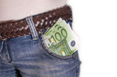 Money in my pocket Royalty Free Stock Photography