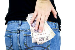 Money in my pocket! Royalty Free Stock Images