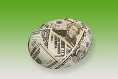 Money nest egg. A young money nest egg isolated on white. Good for any financial maturity and retirement inference stock photos