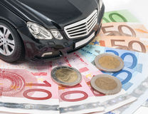 Money and new cars Stock Image