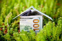 Money for new housing Royalty Free Stock Photos